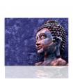 Cuadro buda en tono azulado