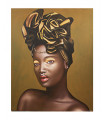 Cuadro retrato africana