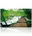 Cuadro de río y puente